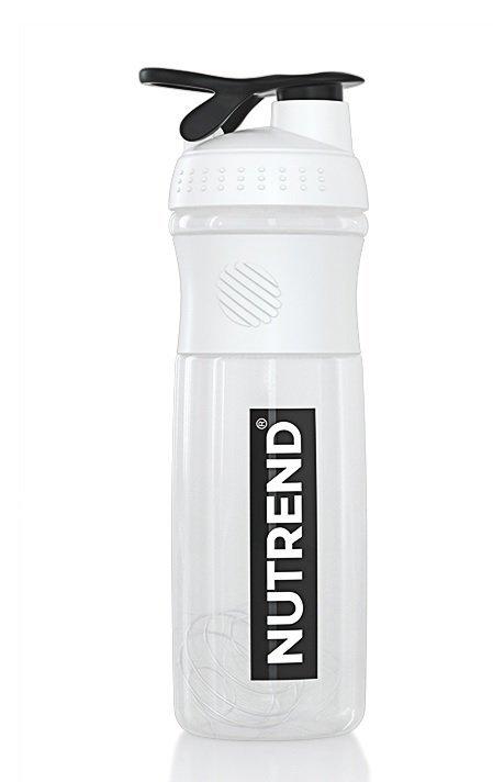 Bílá sportovní láhev na pití Nutrend - objem 1 l