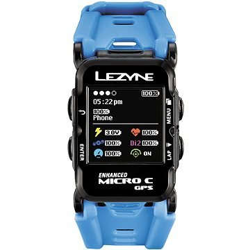 Modré chytré hodinky GPS Watch Color HR, Lezyne