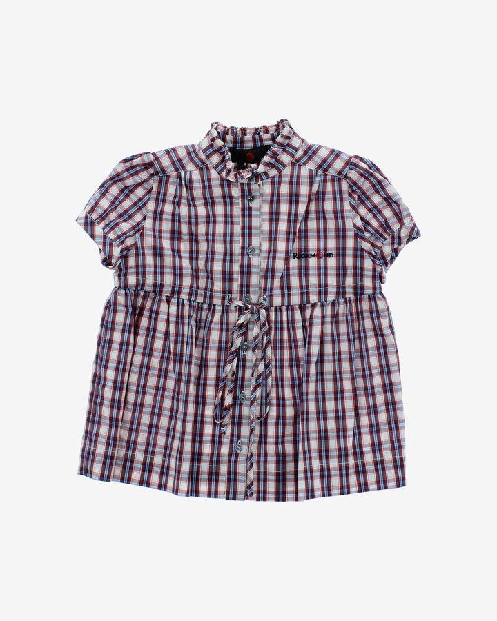 Různobarevná dívčí košile s krátkým rukávem John Richmond - velikost 116
