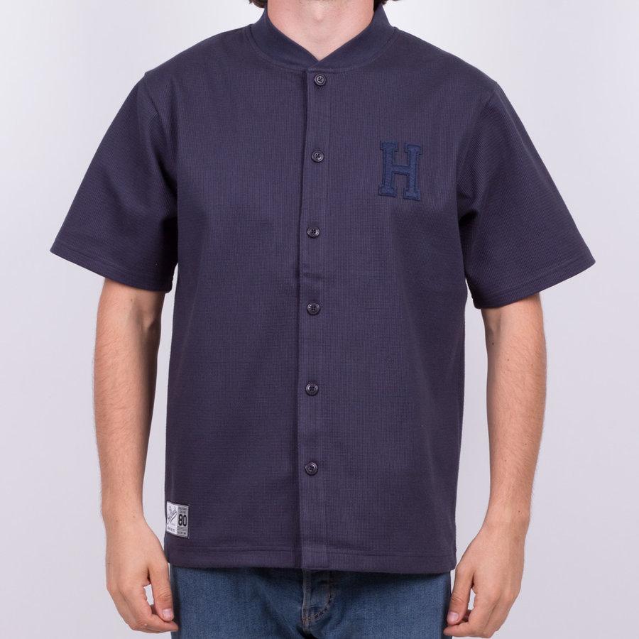 Modrá pánská košile s krátkým rukávem The Hundreds - velikost M