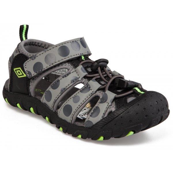 Šedé chlapecké sandály Umbro