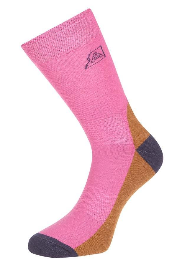 Růžové kotníkové ponožky Alpine Pro - velikost L