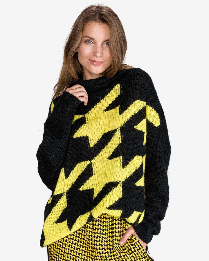 Černo-žlutý dámský svetr Twinset - velikost XS