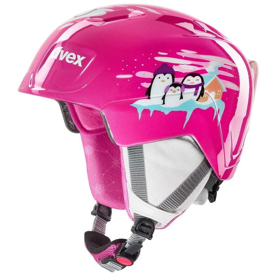 Růžová dívčí lyžařská helma Uvex - velikost 46-51 cm