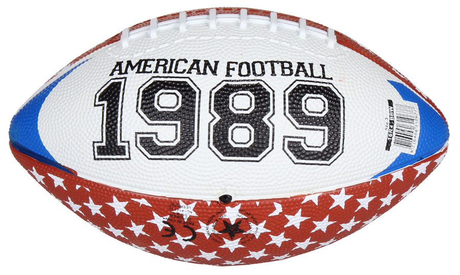 Hnědý gumový míč na americký fotbal Chicago Mini, New Port - velikost 3