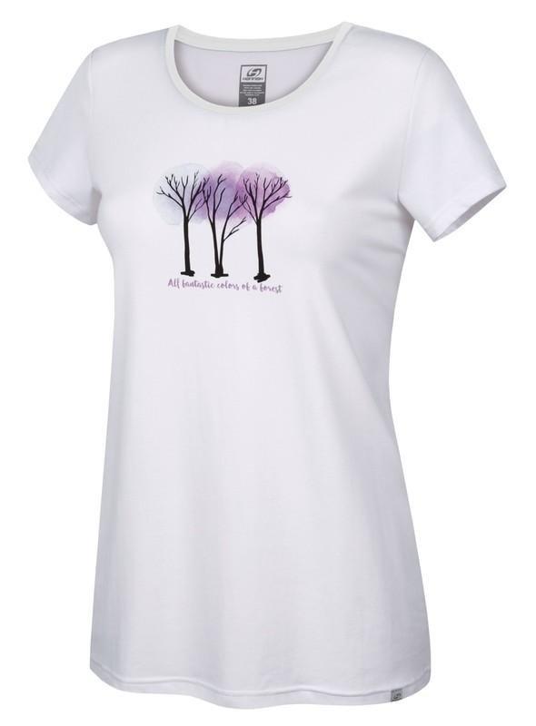 Bílé dámské tričko s krátkým rukávem Hannah - velikost 42