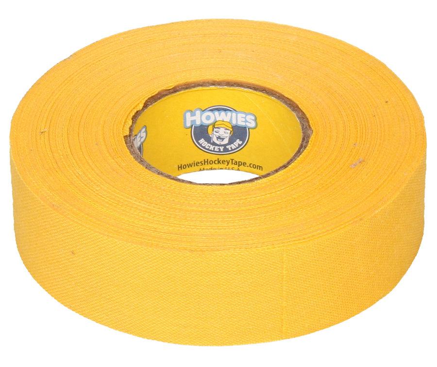 Hokejová omotávka - Howies Textilní páska na hokej 23 m x 2,4 cm žlutá