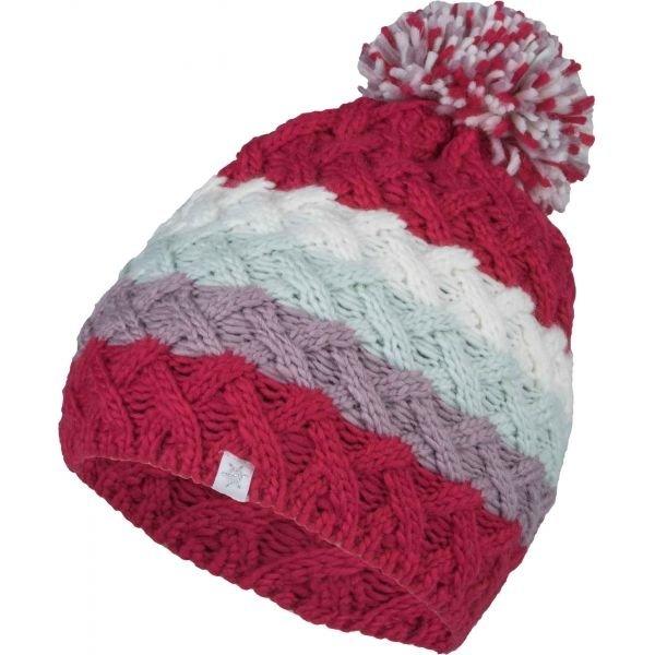 Červená dívčí zimní čepice Lewro