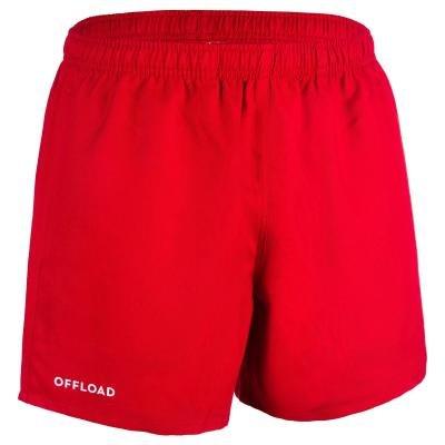 Červené pánské ragbyové kraťasy R100, Offload