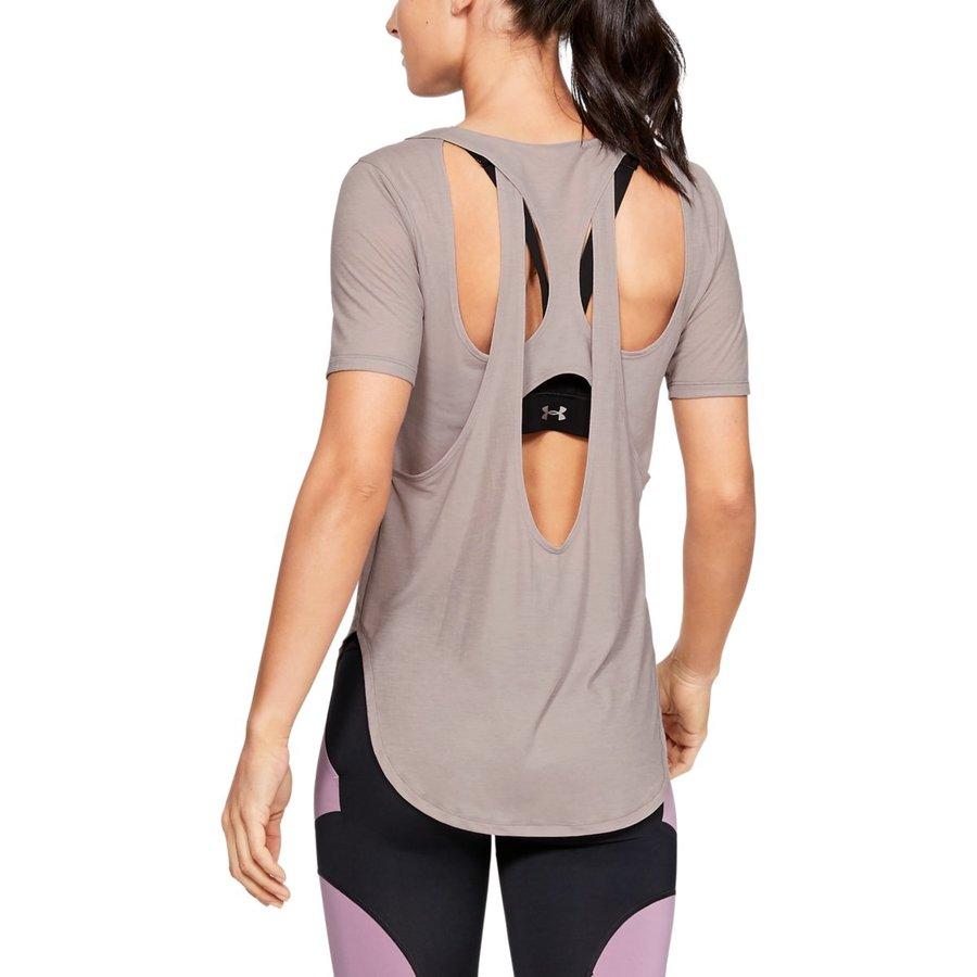 Šedé dámské tričko s krátkým rukávem Under Armour