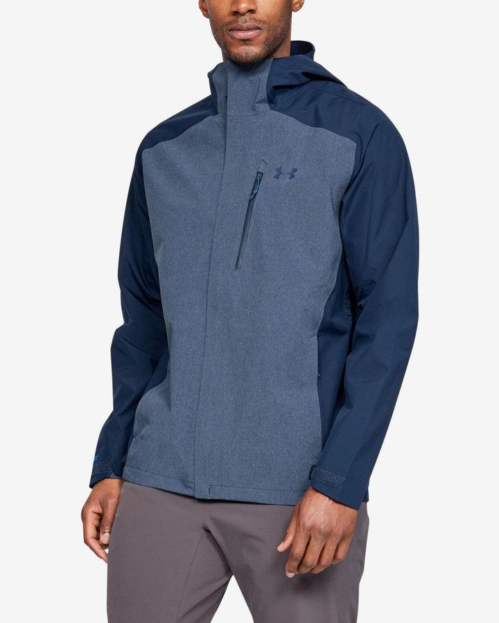 Modrá pánská bunda - větrovka Under Armour - velikost XL