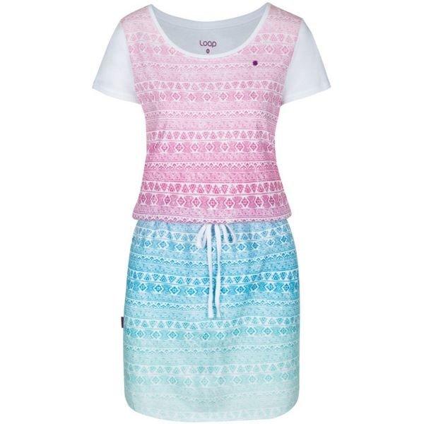 Modro-růžové dámské šaty Loap