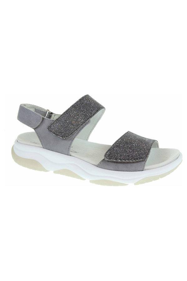 Sandály - 86.929.19 argento/donkey dámské sandály, Rollinsoft, 3x s.zip