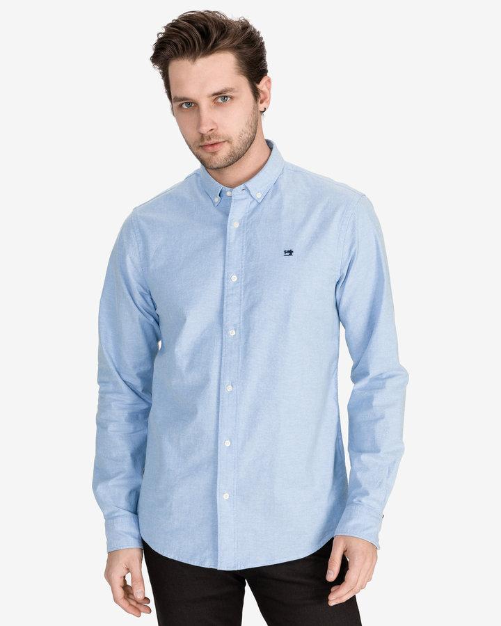 Modrá pánská košile s dlouhým rukávem Scotch & Soda - velikost M