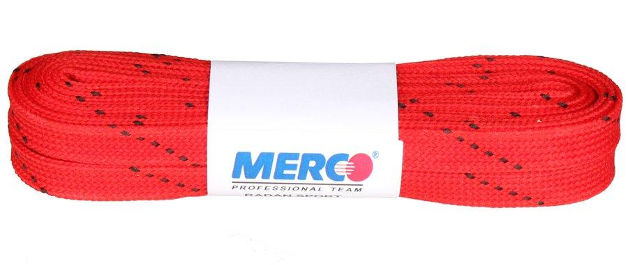 Červené tkaničky do hokejových bruslí Merco - délka 270 cm