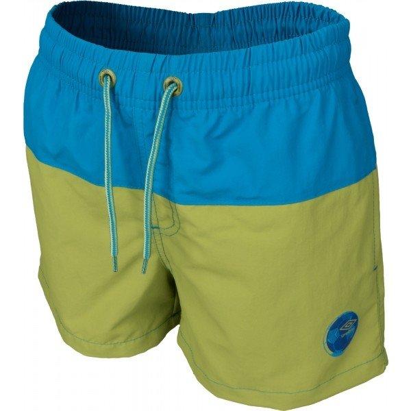 Modro-zelené chlapecké koupací kraťasy Umbro