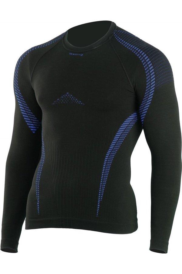 Černé pánské termo tričko s dlouhým rukávem Lasting - velikost S-M