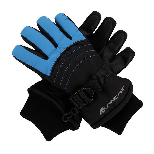Černo-modré dětské chlapecké zimní rukavice Alpine Pro