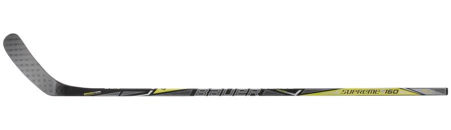 Hokejka - Kompozitová hůl Bauer SUPREME S160 S17 GRIPTAC Junior Provedení: pravá P92, flex 52