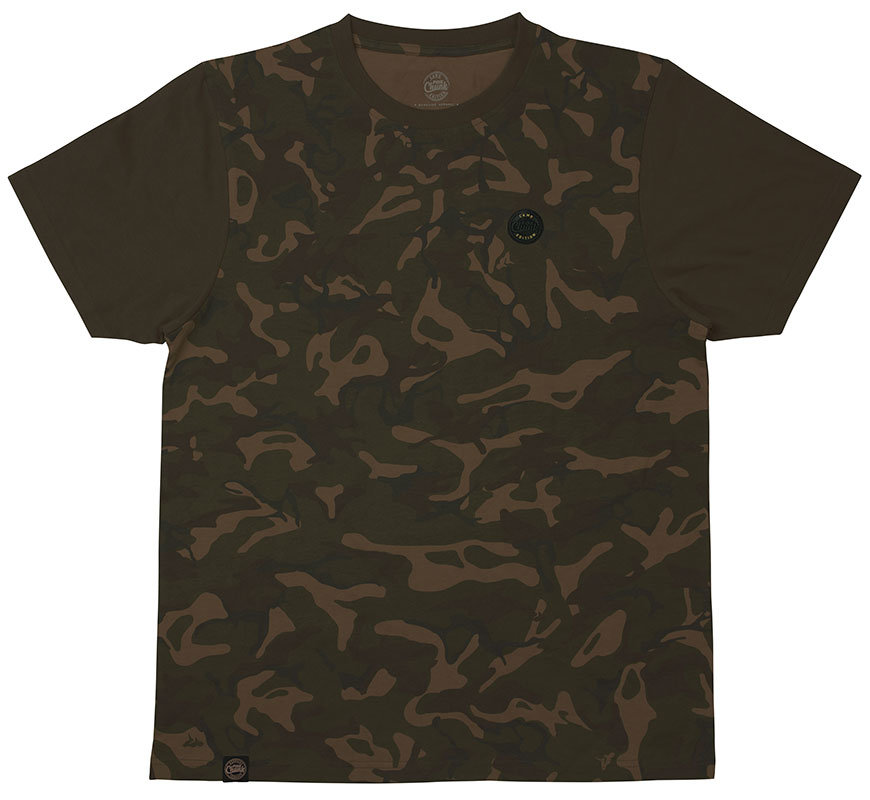 Maskáčové pánské rybářské tričko s krátkým rukávem Fox International - velikost S