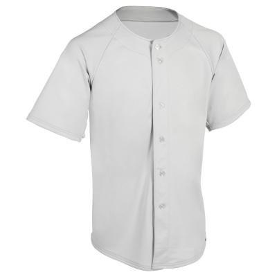 Šedý baseballový dres BA 550, Kipsta