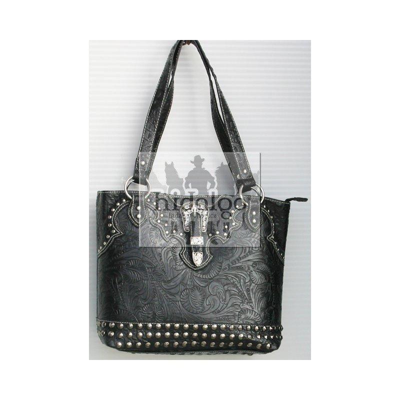 Černo-hnědá dámská kabelka