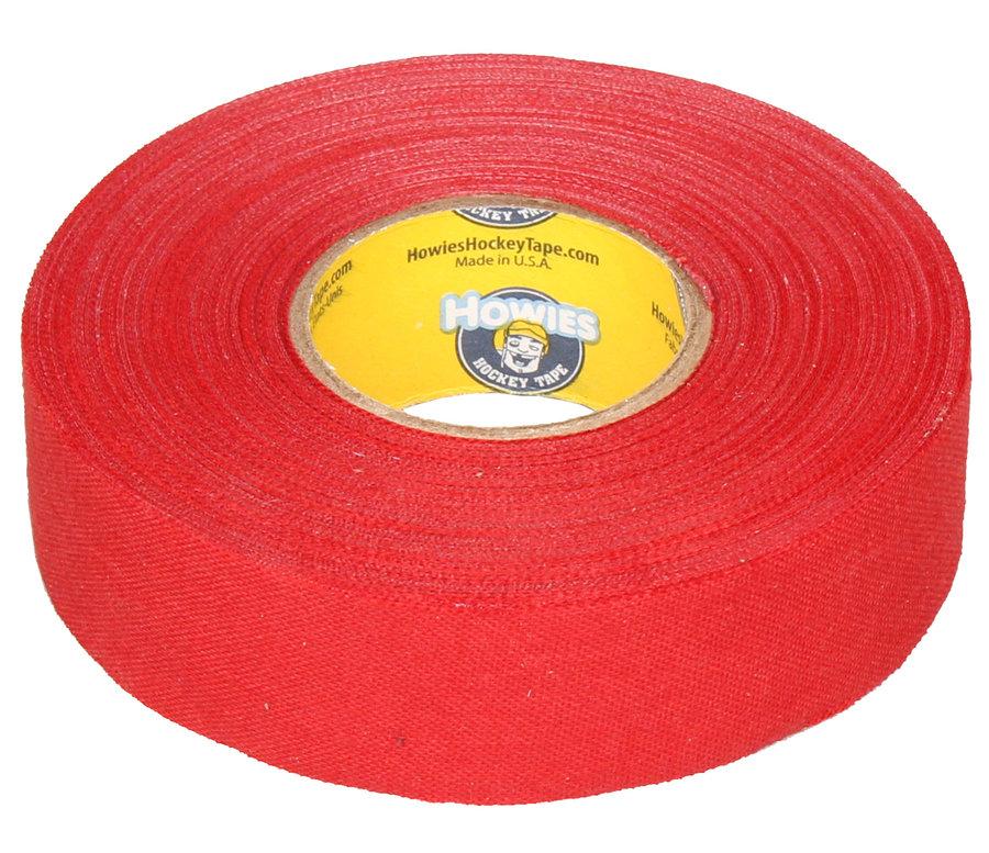 Hokejová omotávka - Howies Textilní páska na hokej 23 m x 2,4 cm červená