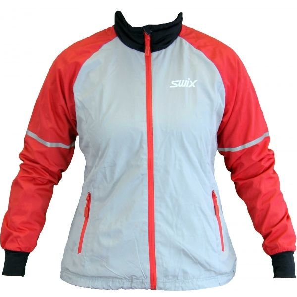 Červeno-šedá dámská bunda Swix
