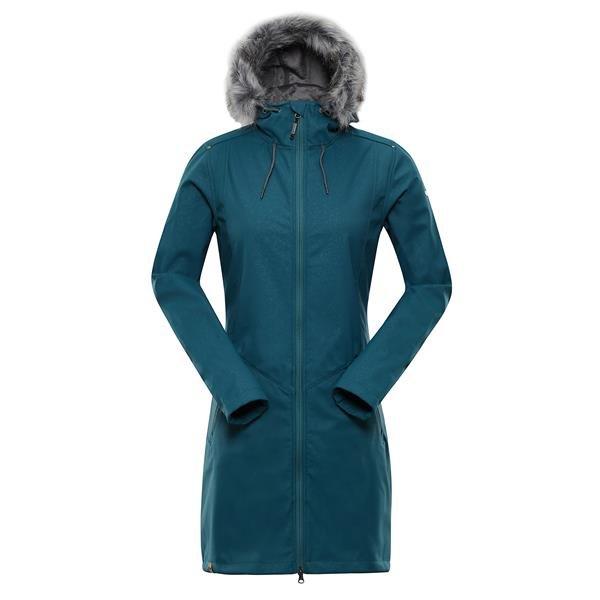 Modrý nepromokavý dámský kabát Alpine Pro - velikost S