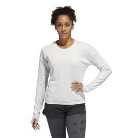 Bílá dámská mikina bez kapuce Adidas