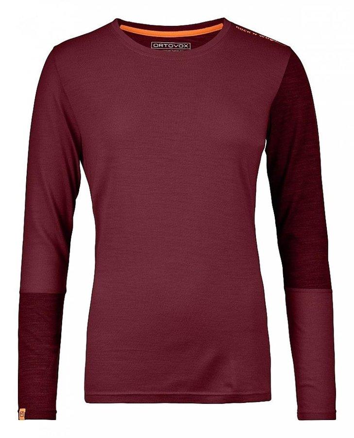 Červené dámské termo tričko s dlouhým rukávem Ortovox - velikost L