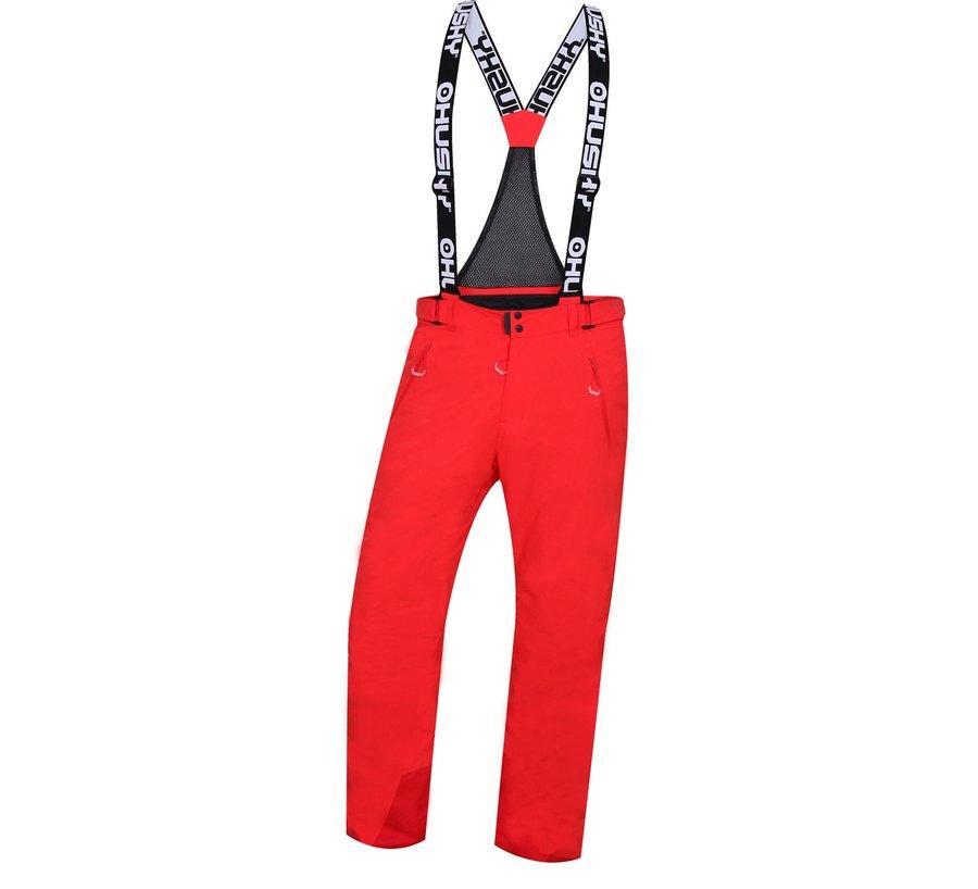 Červené pánské lyžařské kalhoty Husky