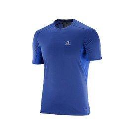 Modré pánské tričko s krátkým rukávem Salomon - velikost XXL