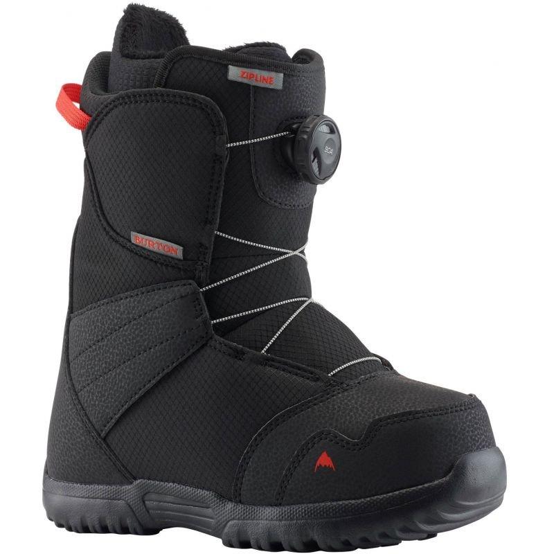 Černé chlapecké boty na snowboard Burton - velikost 35 EU