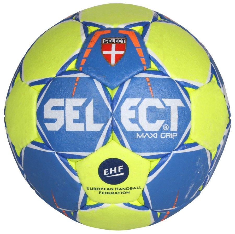 Modro-zelený míč na házenou HB Maxi Grip, Select - velikost 0