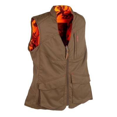 Hnědá dámská lovecká vesta Solognac