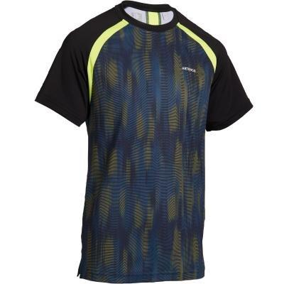 Černé dětské chlapecké tenisové tričko Artengo - velikost 151