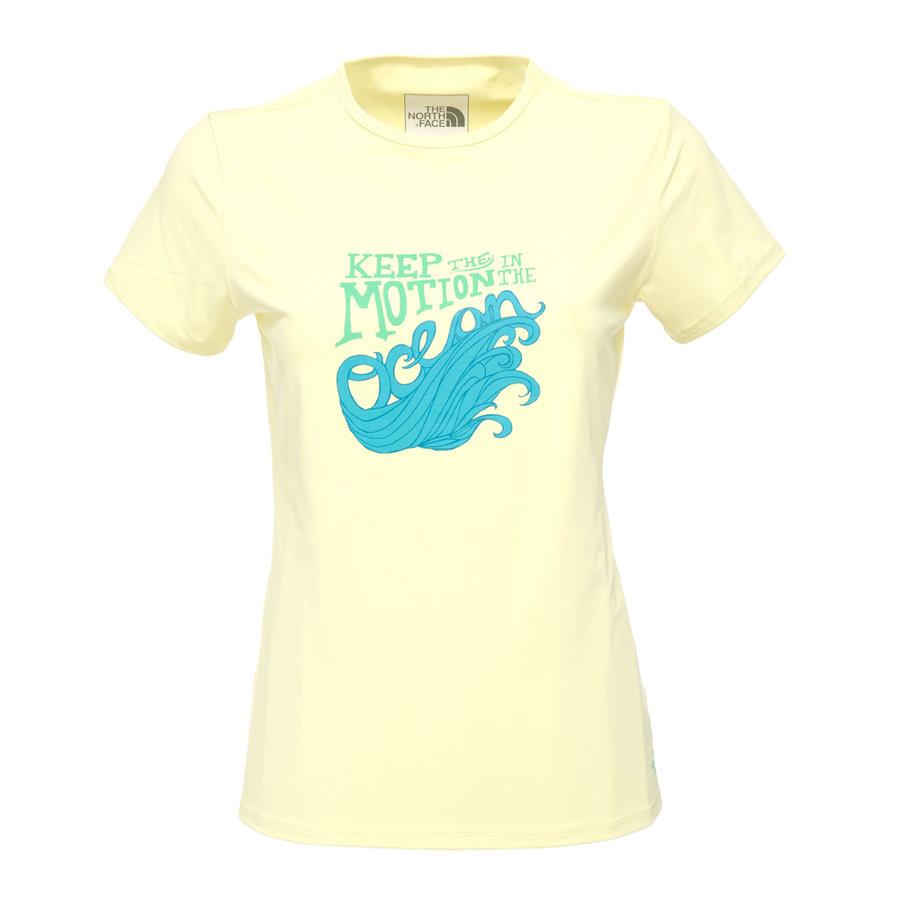 Žluté dámské funkční tričko The North Face - velikost XS