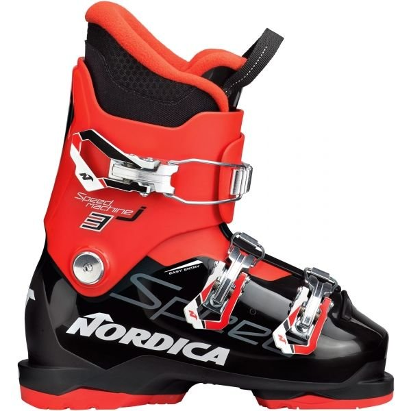 Černo-červené chlapecké lyžařské boty Nordica