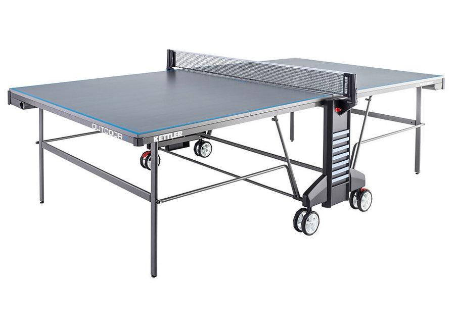 Modro-šedý venkovní stůl na stolní tenis OUTDOOR 4, Kettler