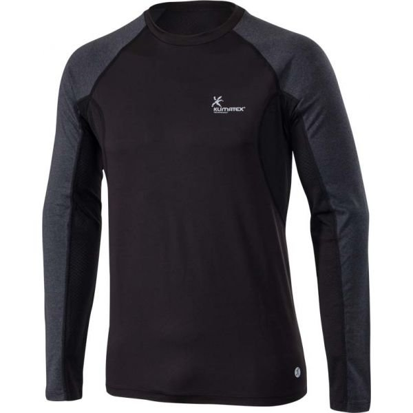 Černo-šedé pánské běžecké tričko Klimatex