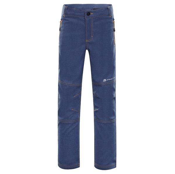 Modré softshellové dětské kalhoty Alpine Pro