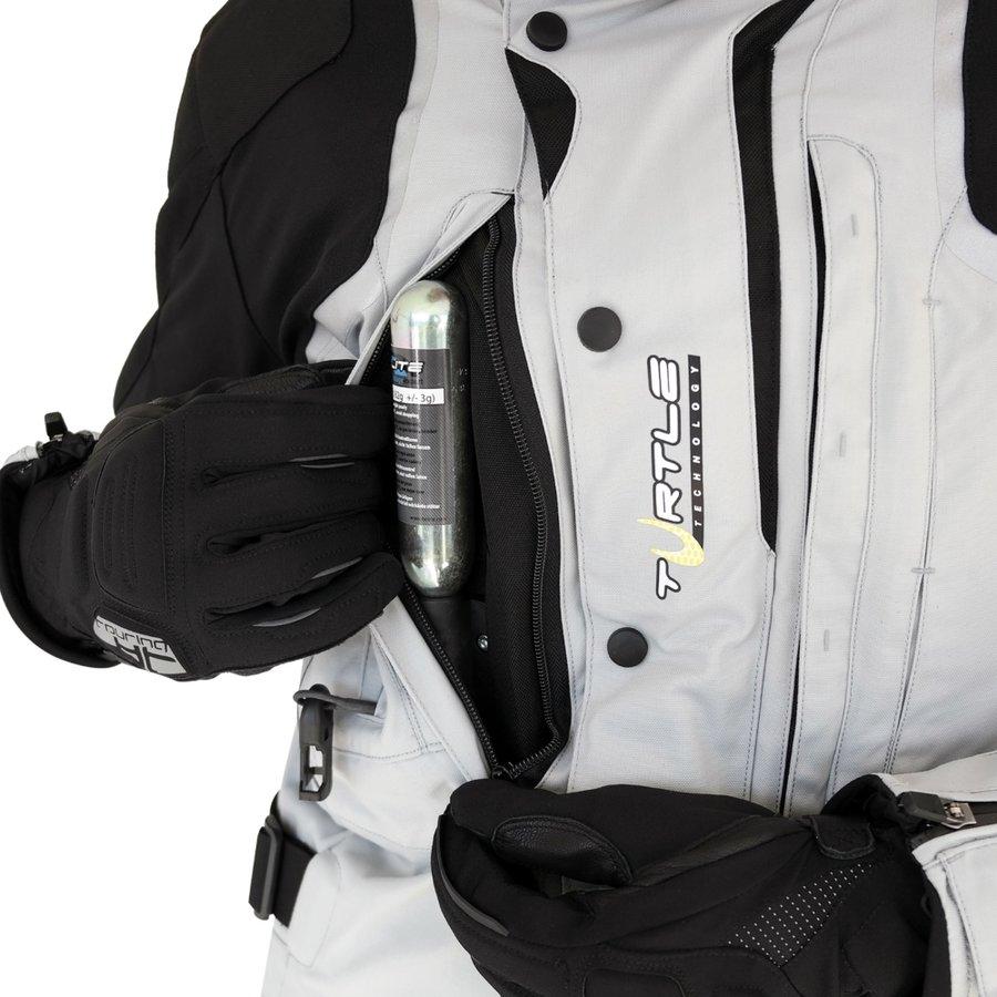 Černo-šedá motorkářská bunda Touring New, Helite - velikost 3XL