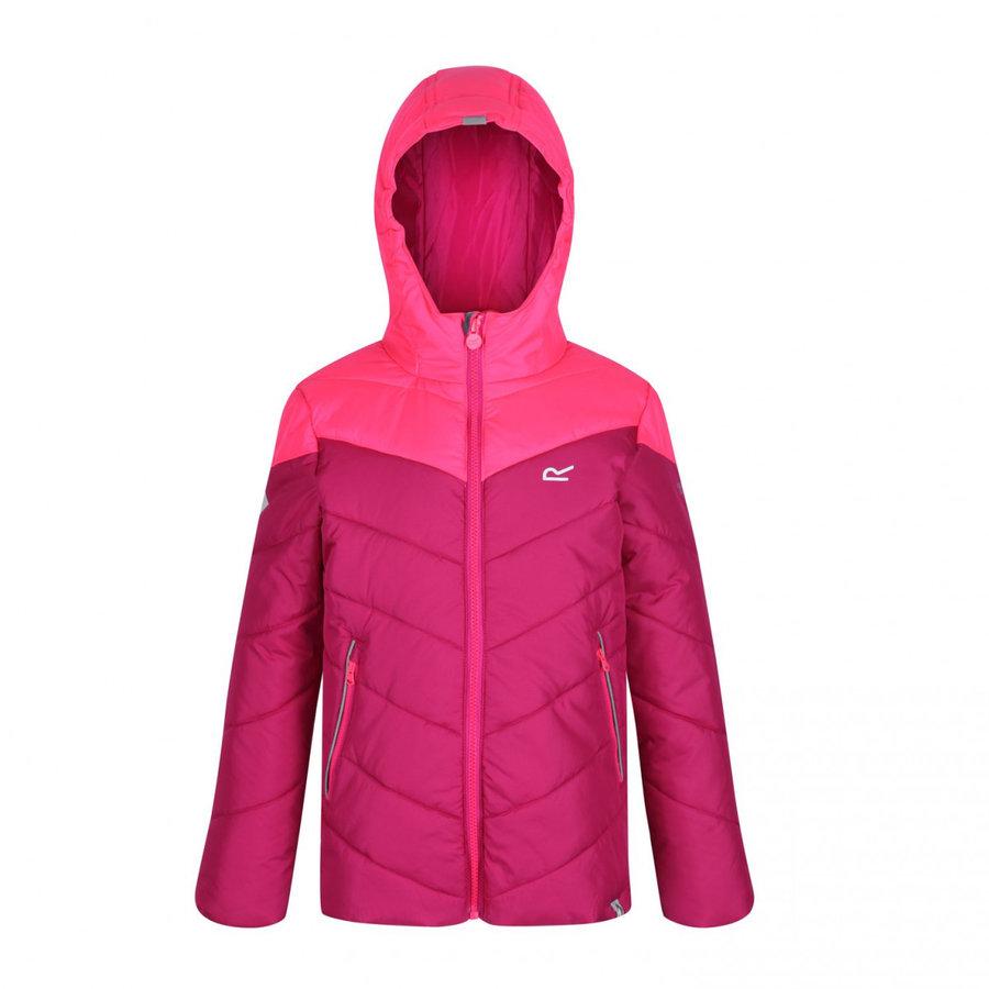 Růžová zimní dívčí bunda s kapucí Regatta