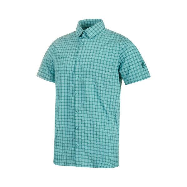 Modrá pánská košile s krátkým rukávem Mammut - velikost M