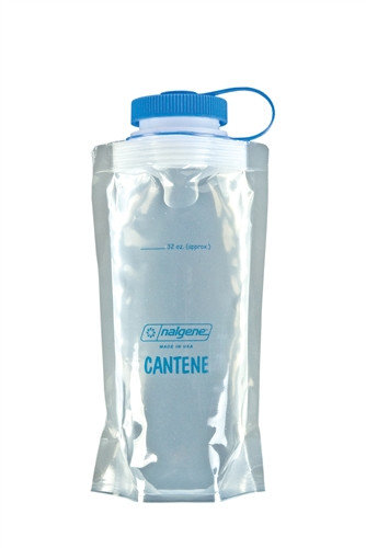 Stříbrná láhev na pití Cantene, Nalgene - objem 1 l