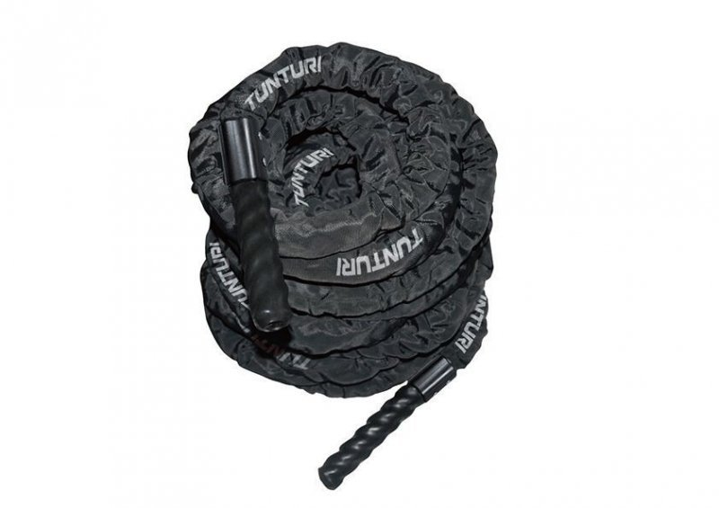 Černé posilovací lano Battle Rope, Tunturi