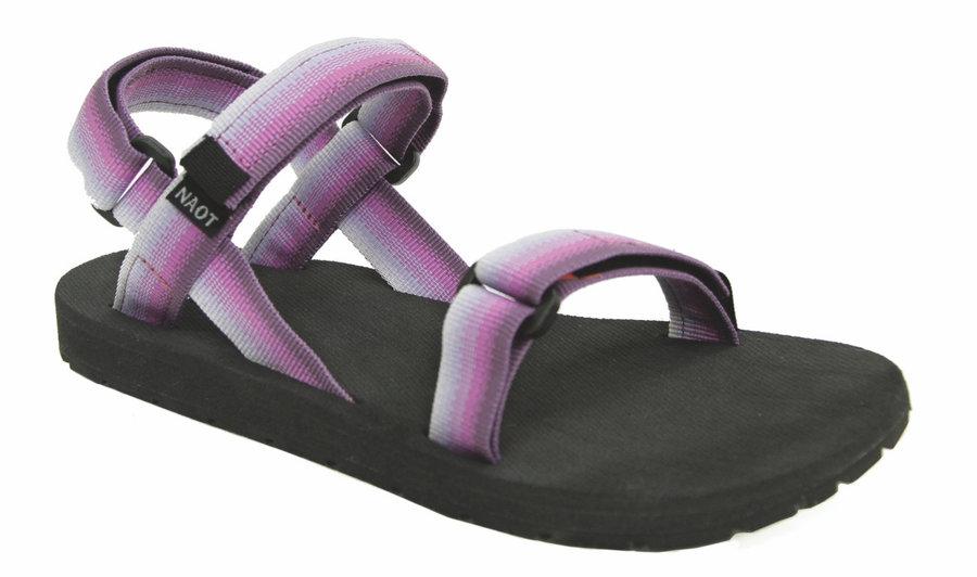 Černo-fialové dámské sandály Source
