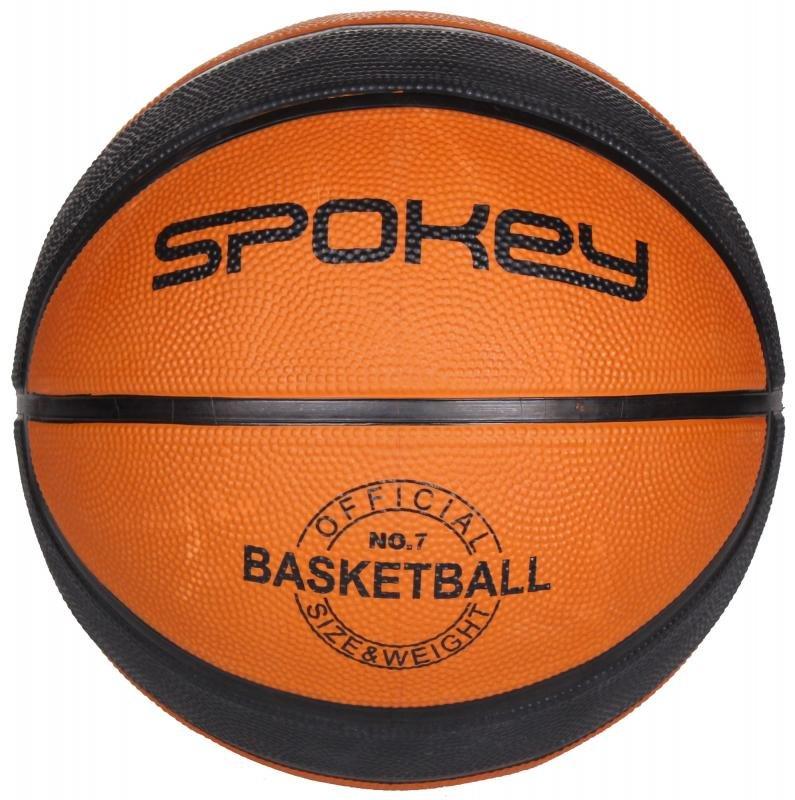 Černo-hnědý basketbalový míč DUNK, Spokey - velikost 7