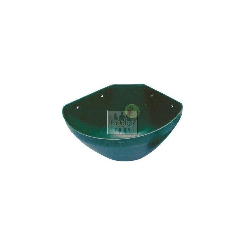 Zelený plastový rohový žlab - objem 16 l